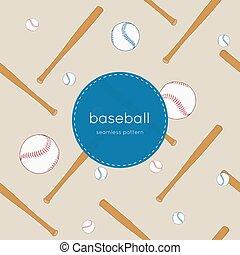 στοιχεία , pattern., seamless, συλλογή , διευκρίνισα , μπέηζμπολ