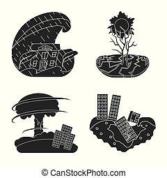 στοκ , illustration., μικροβιοφορέας , όλεθρος , σύγκρουση...