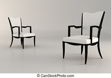 στούντιο , πολυθρόνα , render, 3d