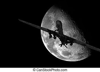 στρατιωτικός , ακαμάτης , πτήση , νύκτα