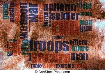 στρατιωτικός , λέξη , σύνεφο