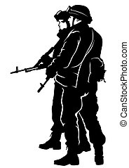 στρατιώτης , αμερικανός , δυο