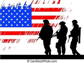 στρατιώτης , αμερικανός , εις
