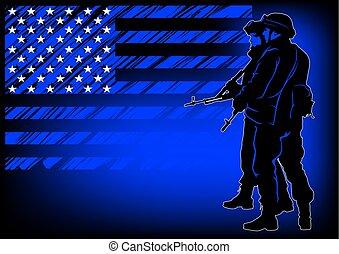 στρατιώτης , αμερικανός , τρία