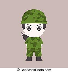 στρατιώτης , γελοιογραφία , μικροβιοφορέας , σχεδιάζω , διαμέρισμα