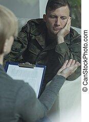 στρατιώτης , πρόβλημα , διανοητικός
