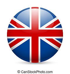 στρογγυλός , λείος , εικόνα , από , μεγάλη βρετανία