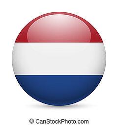 στρογγυλός , λείος , εικόνα , από , ολλανδία