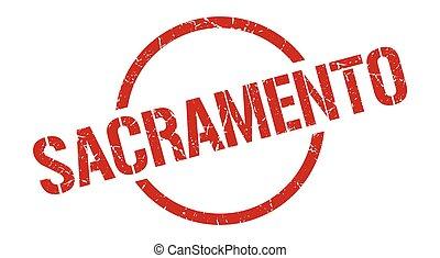 στρογγυλός , grunge , sacramento , σήμα , stamp.,...