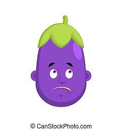 συγκίνηση , ζαλίζω , emoji., πορφυρό , mixed-up, εικόνα , avatar., μικροβιοφορέας , μελιτζάνα , λαχανικό