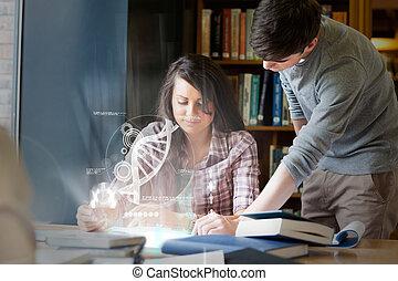 συγκεντρωμένος , dna , φοιτητόκοσμος , πανεπιστήμιο ,...