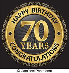 συγχαρητήρια , μικροβιοφορέας , χρυσός , εικόνα , χρόνια , ...