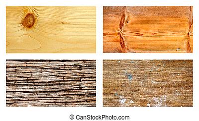 συλλογή , από , grunge , ξύλο , για , φόντο