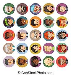 συλλογή , γελοιογραφία , άνθρωποι , avatars