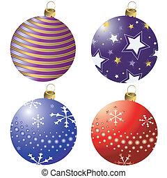 συλλογή , διακόσμηση , (vector), xριστούγεννα