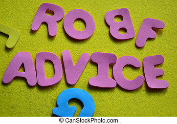 συμβουλή , λέξη