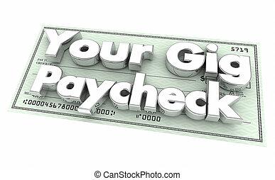 συμβόλαιο , δουλειά , ελέγχω , αποδοχές , πληρωμή , δουλειά , δικό σου , προσωρινός , εικόνα , αμάξιο , 3d