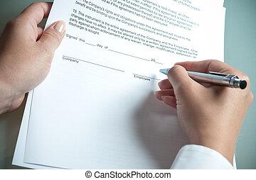 συμφωνία , απασχόληση
