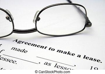 συμφωνία , εκμίσθωση