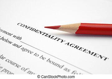 συμφωνία , εμπιστευτικός