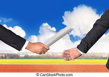 συνάδελφος , εφεδρεία , αποδίδω σοδειά , χέρι , επιχειρηματίας , εφήμερος , γκλομπ