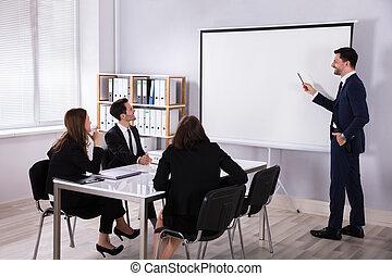 συνάδελφος , χορήγηση , δικός του , παρουσίαση , επιχειρηματίας