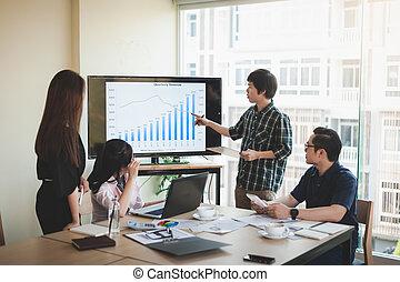 συνάντηση , δουλευτής , σύνολο , γραφείο , επιχείρηση