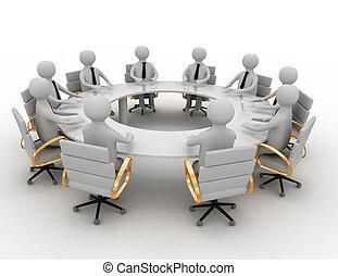 συνάντηση , επιχείρηση , 3d