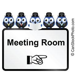 συνάντηση , σήμα , δωμάτιο