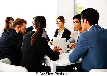 συνάντηση , businesspeople , γραφείο , έχει