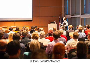 συνέδριο , presentation., ομιλητής , επιχείρηση