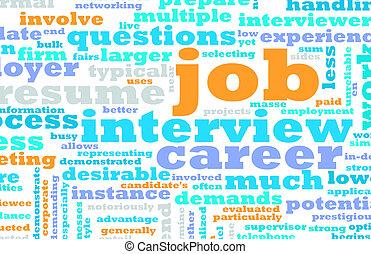 συνέντευξη , δουλειά
