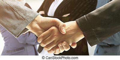συναλλαγή , handshake., συμπέρασμα