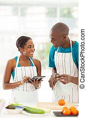 συνταγή , ζευγάρι , αφρικανός , ερευνητικός