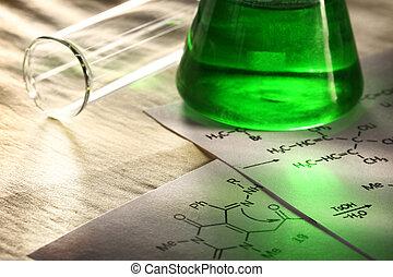 συνταγή , χημεία , πράσινο , αντίδραση