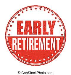 συνταξιοδότηση , νωρίs , γραμματόσημο