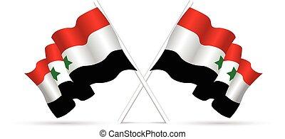 συρία , εθνική σημαία