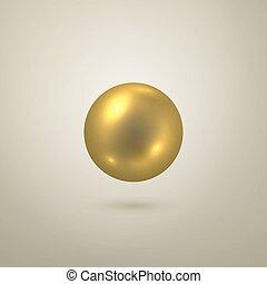 σφαίρα , μικροβιοφορέας , λείος , χρυσός