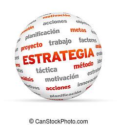 σφαίρα , στρατηγική , λέξη , (in, spanish)