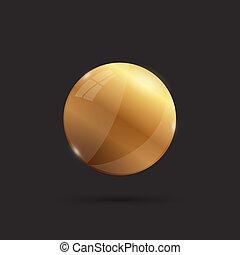 σφαίρα , χρυσός , εικόνα , 3d