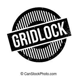 σφραγίδα εκτύπωσης , gridlock