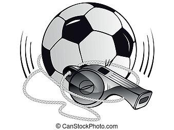 σφυρίχτρα , μπάλλα ποδοσφαίρου