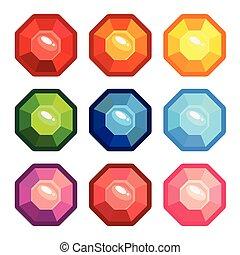 σχήμα , θέτω , οκτάγωνο , πολύτιμοι λίθοι