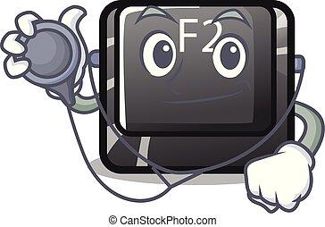 σχήμα , f2 , χαρακτήρας , κουμπί , γιατρός