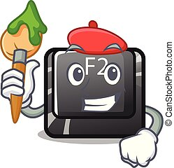 σχήμα , f2 , χαρακτήρας , κουμπί , καλλιτέχνηs