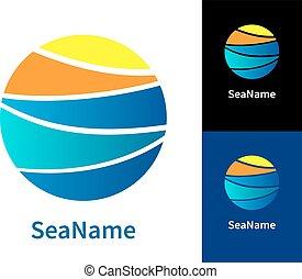 σχεδιάζω , μοντέρνος , logos., θάλασσα