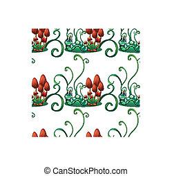 σχεδιάζω , σκουλήκια , κήπος , seamless