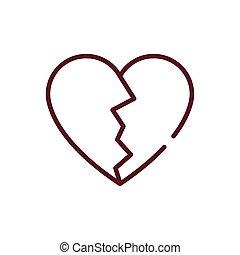 σχεδιάζω , σπασμένος , εικόνα , απομονωμένος , καρδιά , μικροβιοφορέας