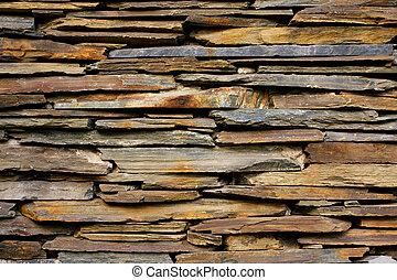 σχιστόλιθος , πέτρινος τοίχος , πλοκή