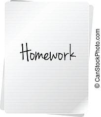 σχολική εργασία στο σπίτι